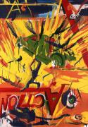 Comic Books Paintings - Action Abstraction No. 1 by David Leblanc