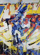 Comic Books Paintings - Action Abstraction No. 13 by David Leblanc