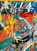 Comic Books Paintings - Action Abstraction No. 7 by David Leblanc