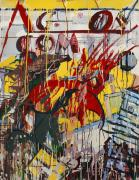 Comic Books Paintings - Action Abstraction No. 8 by David Leblanc