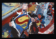 Comic Books Paintings - Action Evolution No. 1 by David Leblanc