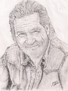 Jeff Drawings - actor Jeff Bridges by Jerome Cotone