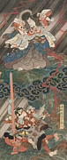 Utagawa Kunisada - Actors Ichikawa Danjuro VII as Kan Shojo