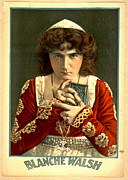 Color Lithographs Photo Acrylic Prints - Actress Blanche Walsh 1899 Acrylic Print by Padre Art