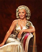 Movie Art Paintings - Actress Carole Landis by Dick Bobnick