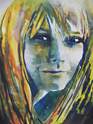 Straight Hair Painting Prints - Actress Gwyneth Paltrow Print by Chrisann Ellis