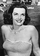 Sexy Woman Posters - Actress Jane Russell Poster by Underwood Archives