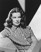 Woman Photos - Actress Katharine Hepburn by Underwood Archives