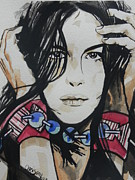 Expressing Prints - Actress ...Liv Tyler Print by Chrisann Ellis