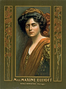 Color Lithographs Photo Acrylic Prints - Actress Maxine Elliott 1905 Acrylic Print by Padre Art
