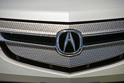 Automobile Posters - Acura Grill Emblem Close up Poster by David  Zanzinger