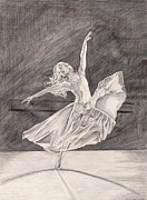 Ballet Drawings Originals - Adagio by Beverly Marshall