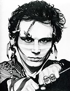 Shoes Drawings Framed Prints - Adam Ant Framed Print by Fred Larucci