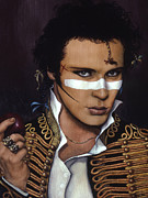 Gold Necklace Painting Framed Prints - Adam Ant Framed Print by Jane Whiting Chrzanoska