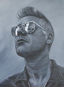 U2 Painting Metal Prints - Adam Clayton U2 Metal Print by David Dunne