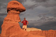 Goblin Valley State Park Prints - Adam Jewell At Goblin Valley Print by Adam Jewell