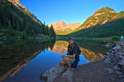 Adam Photos - Adam Jewell At Maroon Bells by Adam Jewell