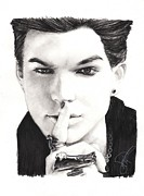 Idol Drawings - Adam Lambert by Rosalinda Markle