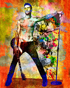 Adam Painting Prints - Adam Levine - Maroon 5 Print by Ryan Rabbass