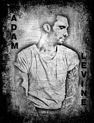 Band Digital Art Acrylic Prints - Adam Levine Acrylic Print by Jessica Grandall