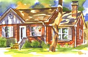 Water Colour Painting Originals - Adams Home by Kip DeVore
