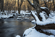 New England Winter Scene Framed Prints - Adamsville Brook Framed Print by Andrew Pacheco
