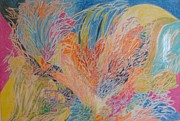 Abstract Pastel Metal Prints Prints - Adaptations from Nature Print by Esther Newman-Cohen