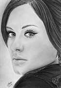 Adele Drawings - Adele 001 by Mandy Boss