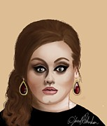 Adele Digital Art - Adele by DJuan Richardson