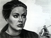 Adele Drawings - Adele by Fithy Abraham