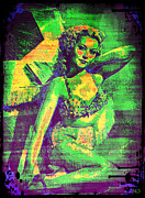 Adele Digital Art - Adele Mara - 1940s Pin Up by Absinthe Art By Michelle LeAnn Scott