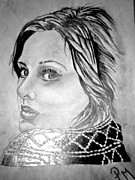 Adele Drawings - Adele by Pauline Murphy