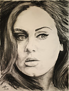 Adele Drawings - Adele by Tim Brandt
