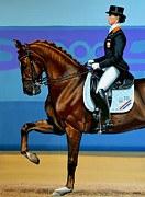Olympic Sport Framed Prints - Adelinde Cornelissen on Parzival Framed Print by Paul Meijering