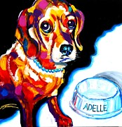 Best Friend Mixed Media Posters - Adelle - The Puppy Poster by Jonathan Tyson