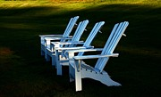 Lounging Framed Prints - Adirondack Chairs Framed Print by Marcia Lee Jones