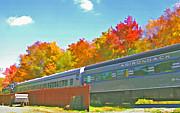 Steve Ohlsen - Adirondack Scenic Railroad 2 - Watercolor