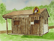 Arkansas Paintings - Admission Booth by Carol Blackhurst