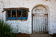 Ranch Framed Prints - Adobe Door and Window Framed Print by Peter Tellone