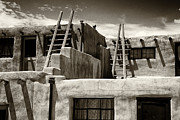 Adobe Architecture Posters - Adobe Dwellings of Acoma Poster by George Oze