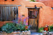Adobe Mixed Media Prints - Adobe House Print by Michael Rushing