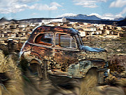 Adobe Mixed Media Prints - Adobe Town Print by Dennis Buckman