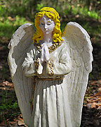 Angel  Artwork Prints - Adorable Angel Print by Al Powell Photography USA