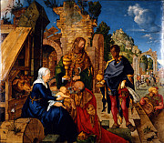 Jesus Art Painting Framed Prints - Adoration of the Magi Framed Print by Albrecht Durer