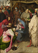 Adoration Framed Prints - Adoration of the Magi Painting Framed Print by