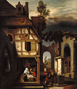 Famous Artists - Adoration of the Shepherds by Nicolaes Maes