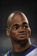 National Football League Digital Art Framed Prints - Adrian Peterson Framed Print by Derek Wehrwein