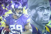 Vikings Painting Posters - Adrian Peterson  Poster by Jason Turner