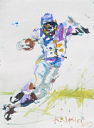 Adrian Peterson Print by Robert Joyner