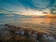 Seascape Photos - Adriatic sunset by Davorin Mance